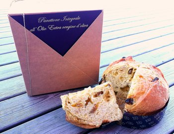 Panettone integrale all'olio EVO con nocciole 500g box regalo