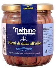 Filetti di Alici all'Olio di Girasole 200g