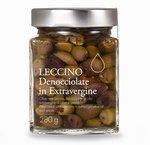 Olive nere Leccino denocciolate in olio extravergine 280g